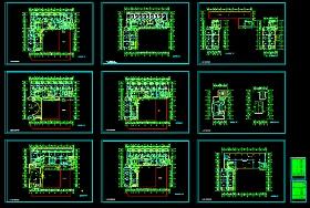 某医院十三层大楼建筑CAD施工设计方案图纸