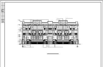 杭州精品别墅建筑设计图纸