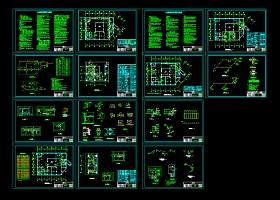 某地下室人防通風系統設計cad全套施工圖