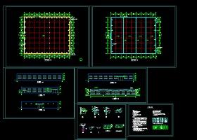 单层钢结构厂房全套CAD建筑施工详细图纸