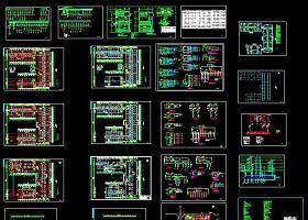 某地星级大酒店电气设计cad施工方案图