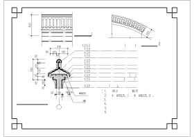 某地仿古代围墙(马头墙)披檐建筑设计cad施工图