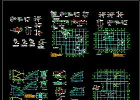 某工程加层改造结构cad施工设计图