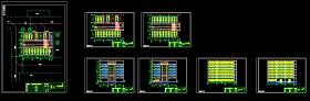 全自动机械立体停车库CAD设计图