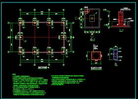 钢楼梯及钢平台结构cad施工设计图