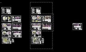某高校变电站及发电机房设计cad电气图纸