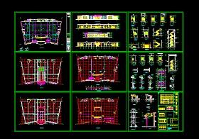 某大超市建筑施工方案设计全套CAD图纸