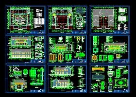 经典仿古四合院建筑CAD设计施工样图