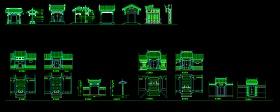 某中式古典大门施工装修CAD设计图
