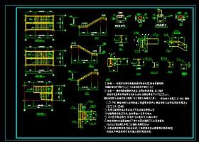 鋼結構樓梯大樣cad施工詳細設計圖