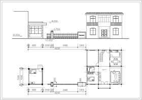 公司大门建筑设计施工图