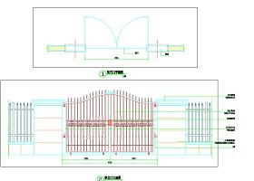 某地厂区铁艺大门设计详图