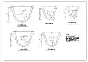 農田水利工程U型預制槽斷面設計圖
