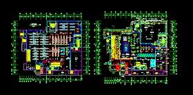 某生活超市建筑cad设计施工平面图