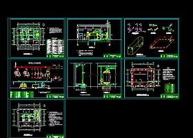 锅炉房工艺设备管道安装cad设计图纸