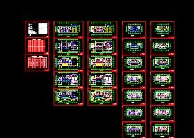 北方某高層辦公樓多聯機系統設計cad平面施工圖