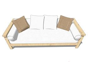 淺色家居室客廳沙發椅模型
