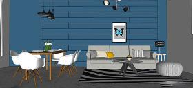現代家居客廳綜合效果圖