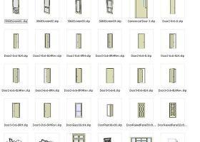 sketchup組件素材——門(doors)集合