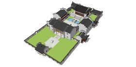 中式仿古建筑群