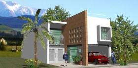 欧式小型别墅建筑方案图片