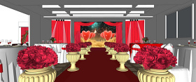 红色主题婚礼