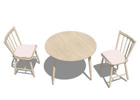涼亭桌椅子3d綜合模型