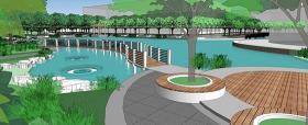 超级精品景观公园3D模型