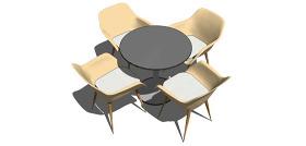 棕色家具椅子3d綜合模型