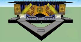 舞台场景工装skp模板