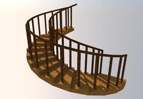 SU旋转楼梯模型