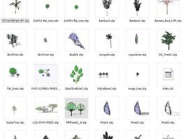 sketchup组件素材——植物(plants)集合