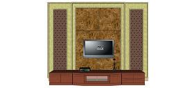 电视背景墙电视墙skp模型