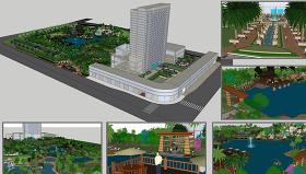 酒店外观3D模型图片