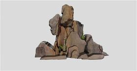 景观装饰石头SU草图大师skp模型