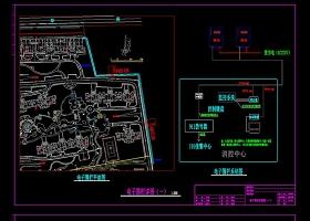 原創電子圍欄施工詳圖CAD弱電智能化-版權可商用
