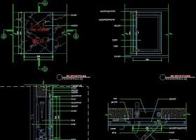原创CAD消防栓石材干挂门节点详图防火栓设计-版权可商用