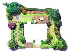 原创PS分层景观平面图之私家庭院