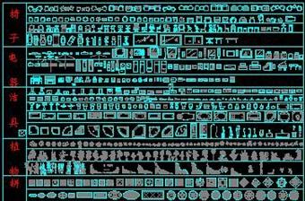 原创CAD家居用品图库工装平面图立面图家具-版权可商用