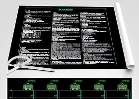 原创数据中心空调通风设计施工图纸机房空调-版权可商用