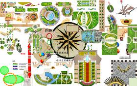 原创高清景观园林植物园艺小品PSD分层图块-版权可商用