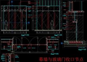 原创玻璃门暗门消火栓装饰门节点CAD图-版权可商用