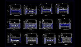 原创石栏杆CAD立面详图