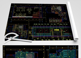 原創全套皮膚病醫院CAD平面施工圖