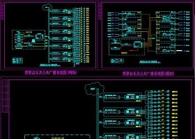 原创背景音乐及公共广播系统图模板CAD弱电智能化-版权可商用