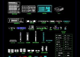 原创会议音响灯光器材CAD图库图块模板-版权可商用