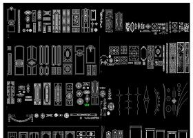 原创门型套框花纹图案CAD图库-版权可商用