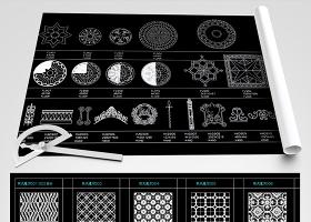 原创2018新款水刀拼花图案中式法式欧式花纹地拼-版权可商用
