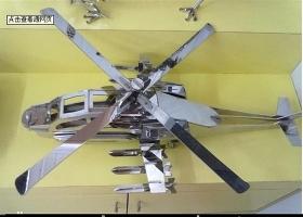 原创激光切割工艺品CAD图纸3D拼装图飞机-版权可商用