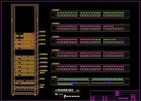 原创弱电汇聚间机柜布置图配线架打线图CAD-版权可商用